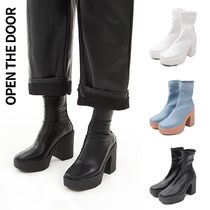 [OPEN THE DOOR] span chunky heel 3色★プラットホームブーツ