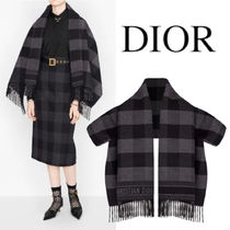 SCARF JACKET WOOL & ANGORA WITH CHRISTIAN DIOR SIGNATURE