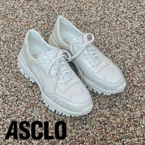 ASCLO Real Leather Tom Sneakers (Beige)