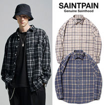 ★SAINTPAIN★日本未入荷 韓国 SP Loose Fit Muse Check Shirts