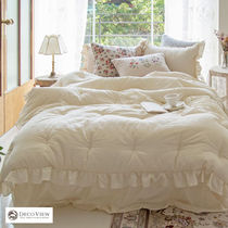 Decoview◇COZY NATURAL WASHING FRILL BEDDING SET SS♪