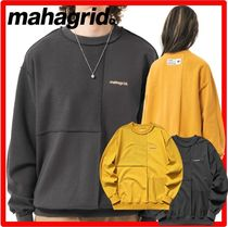 ☆韓国の人気☆mahagrid☆BLOCK REVERSIBLE SWEATSHIR.T☆2色☆