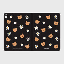 【earpearp】韓国発★ Dot flower bear-black iPad ケース