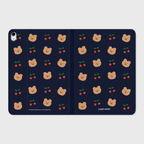 【earpearp】韓国発★ Dot cherry bear-navy iPad ケース