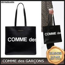 [20AW]送料込み◆COMME DES GARCONS ロゴ レザー トートバッグ