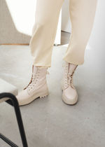 ☆& Other Stories☆Chunky Platform Leather Boots(beige)