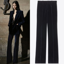 WSL1812 LOOK41 PLEATED LOW-RISE FLARE PANTS IN VELVET
