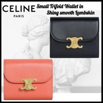 CELINE☆SMALL TRIOMPHE WALLET IN SHINY SMOOTH LAMBSKIN