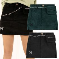 ★NASTY FANCY CLUB★[NF] CHAIN POUCH CORDUROY PANTSKIRT 2色
