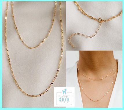 AMANDA DEER★The Dainty Duo Necklace★GOLD★国内発関税送料込