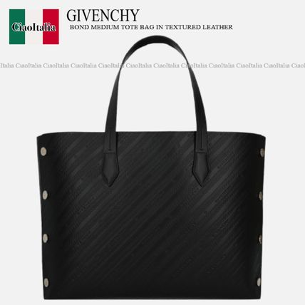 GIVENCHY BOND MEDIUM TOTE BAG IN TEXTURED LEATHER