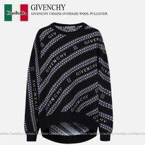 GIVENCHY GIVENCHY CHAINE OVERSIZE WOOL PULLOVER
