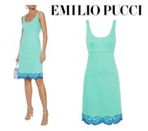 Emilio Pucci☆Broderie anglaise-trimmed stretch-cotton twill