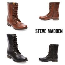 ★Steve Madden★Women's Troopa Combat Leather Boots