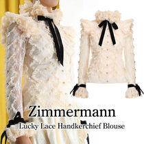 【Zimmermann】 LACE HANDKERCHIEF BLOUSE☆リボン付☆追跡付