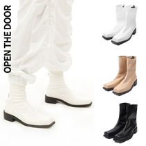 [OPEN THE DOOR] front square ankle boots 3色★スクエアトゥ