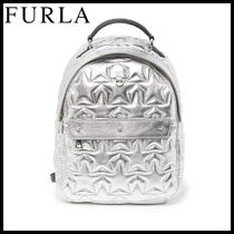 FURLA バックパック Favola Star Embossed Leather