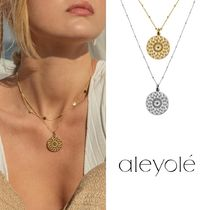 ☆aleyole☆曼荼羅モチーフのネックレス☆MANDALA GOLD/SILVER☆