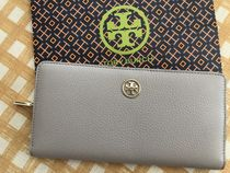 Tory Burch★Landon Hidden Zip Continental Wallet★グレー