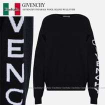 GIVENCHY GIVENCHY INTARSIA WOOL BLEND PULLOVER