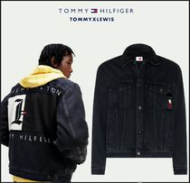 【TOMMY  HAMILTON】OVERSIZED FADED DENIM JACKET