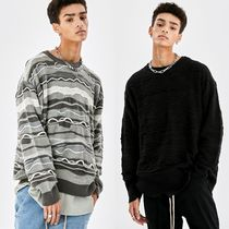 20FW [ATTENTIONROW] SOFT TOUCH MULTI PATTERN OVER-FIT KNIT