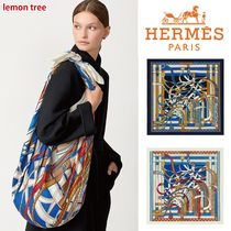 HERMES カレ 140《Voltes et Pirouettes》ショール
