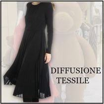 【DIFFUSIONE TESSILE】ワンピース☆プリーツスカート☆ひだ模様