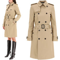 WSL1831 DOUBLE BREASTED GABARDINE TRENCH COAT