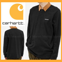 Carhartt WIP★CORD COLLAR RUGBY POLO (BLACK, BROWN & WHITE)