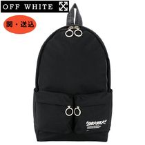 ☆NEW☆【Off-White】ロゴ入り バックパック 黒 208OW☆36