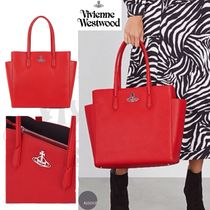 ■Vivienne Westwood■Johanna red faux leather tote■
