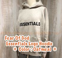 *大人気!*Fear Of God Essentials Logo Hoodie Gray