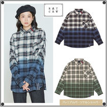 ROMANTIC CROWNのGRADATION CHECK SHIRT 全2色