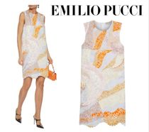 Emilio Pucci☆Scalloped printed broderie anglaise cotton