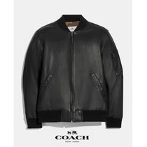 日本未発売!【Coach】Leather Ma-1 Jacket