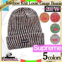 20FW /Supreme Rainbow Knit Loose Gauge Beanie ニット帽 ロゴ