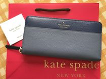 Kate Spade★Jackson Large Continental Wallet★ブルー