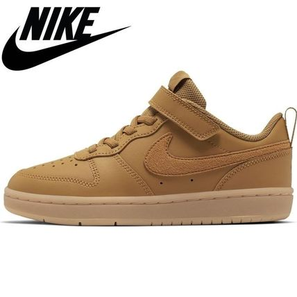 Nike キッズスニーカー ☆NIKE キッズ COURT BOROUGH LOW 2 (PSV)WHEAT 国内発送 正規品