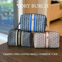 完売品 TORY BURCH★GEMINI LINK CANVAS SMALL COSMETIC CASE