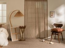 【DECO VIEW】Comfort cocoa check shade curtain