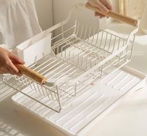 【DECO VIEW】White wood dripping dish rack