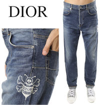 DIOR HOMME DIOR & SHAWN BEE EMBROIDERED JEANS