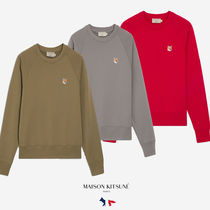 MAISON KITSUNE◆FW00343KM0002 SWEATSHIRT FOX HEAD PATCH