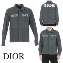 DIOR HOMME OVERSHIRT WITH DIOR 1947 EMBROIDERY