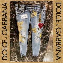 DOLCE&GABBANA 20AW ロゴ パッチ装飾付 ダメージ加工 ジーンズ