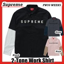 Supreme 2-Tone Work Shirt シャツ FW AW 20 WEEK 5