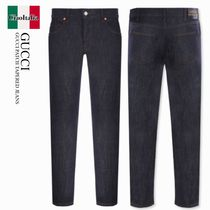 Gucci   GUCCI PATCH TAPERED JEANS