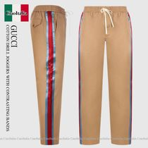 Gucci  COTTON DRILL JOGGERS WITH CONTRASTING BANDS
