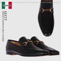 Gucci  JORDAN LOAFERS IN SHINY LEATHER